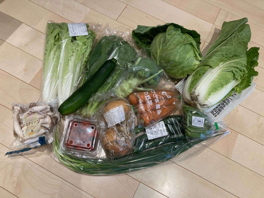 ミレーの無農薬野菜定期便